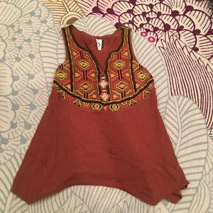 ANTHROPOLOGIE tank top with embroidered detail!